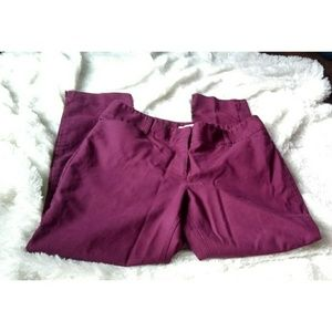 WHBM purple ankle stretch work pants size 12